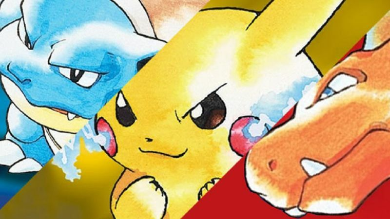 Poke Red Blue and Yellow
